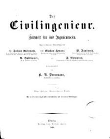 Der Civilingenieur : Zeitschrift für das Ingenieurwesen, 1868, Bd. 14.