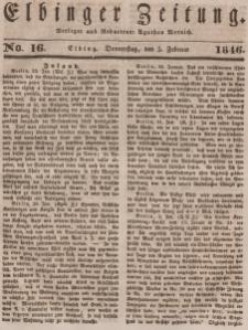 Elbinger Zeitung, No. 16 Donnerstag, 5. Februar 1846