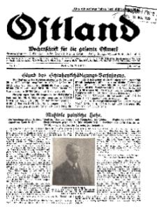 Ostland : Wochenschrift für die gesamte Ostmark, Jg. 10, 1929, Nr 19.
