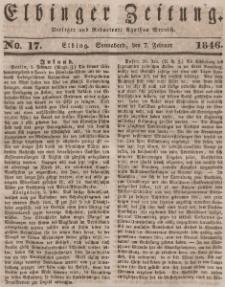 Elbinger Zeitung, No. 17 Sonnabend, 7. Februar 1846