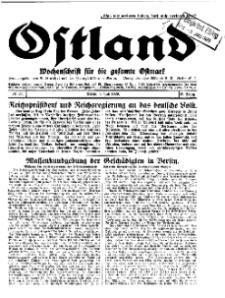 Ostland : Wochenschrift für die gesamte Ostmark, Jg. 10, 1929, Nr 27.