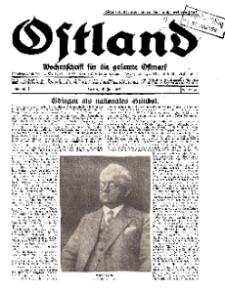 Ostland : Wochenschrift für die gesamte Ostmark, Jg. 10, 1929, Nr 29.