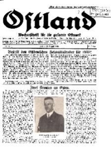 Ostland : Wochenschrift für die gesamte Ostmark, Jg. 10, 1929, Nr 34.