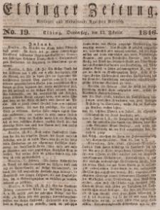 Elbinger Zeitung, No. 19 Donnerstag, 12. Februar 1846