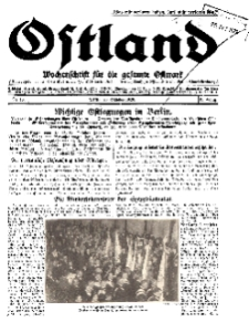 Ostland : Wochenschrift für die gesamte Ostmark, Jg. 10, 1929, Nr 43.