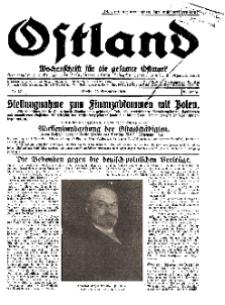 Ostland : Wochenschrift für die gesamte Ostmark, Jg. 10, 1929, Nr 47.