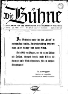Die Bühne. Jg. [6], 1940, H. 8
