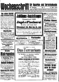 Wochenschrift für Aquarien und Terrarienkunde, 22. Jg. 1925, Nr. 11.