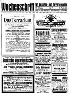 Wochenschrift für Aquarien und Terrarienkunde, 22. Jg. 1925, Nr. 14.
