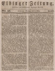 Elbinger Zeitung, No. 27 Montag, 2. März 1846