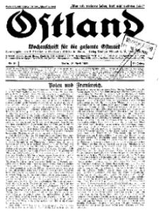 Ostland : Wochenschrift für die gesamte Ostmark, Jg. 13, 1932, Nr 16.