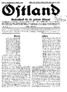 Ostland : Wochenschrift für die gesamte Ostmark, Jg. 13, 1932, Nr 19.