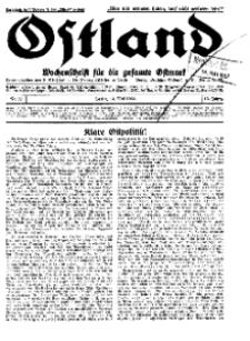 Ostland : Wochenschrift für die gesamte Ostmark, Jg. 13, 1932, Nr 20.