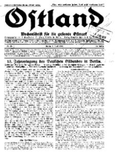 Ostland : Wochenschrift für die gesamte Ostmark, Jg. 13, 1932, Nr 23.