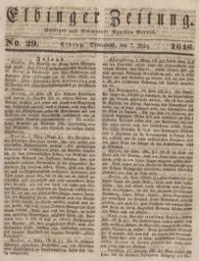 Elbinger Zeitung, No. 29 Sonnabend, 7. März 1846