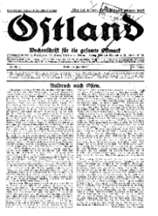 Ostland : Wochenschrift für die gesamte Ostmark, Jg. 13, 1932, Nr 28.