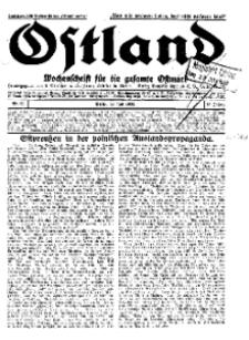 Ostland : Wochenschrift für die gesamte Ostmark, Jg. 13, 1932, Nr 30.