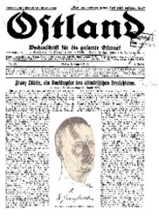 Ostland : Wochenschrift für die gesamte Ostmark, Jg. 13, 1932, Nr 32.