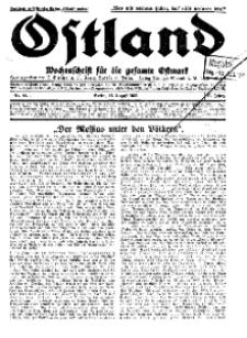 Ostland : Wochenschrift für die gesamte Ostmark, Jg. 13, 1932, Nr 33.