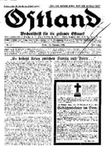 Ostland : Wochenschrift für die gesamte Ostmark, Jg. 13, 1932, Nr 47.