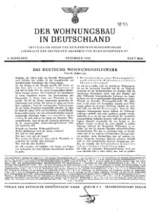 Der Wohnungsbau in Deutschland, Jg. 3, 1943, H. 23/24