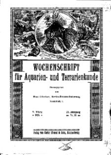 Wochenschrift für Aquarien und Terrarienkunde, 23. Jg. 1926, Nr. 10.