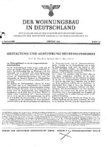 Der Wohnungsbau in Deutschland, Jg. 4, 1944, H. 1/2