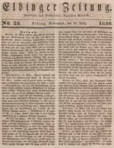 Elbinger Zeitung, No. 34 Donnerstag, 19. März 1846