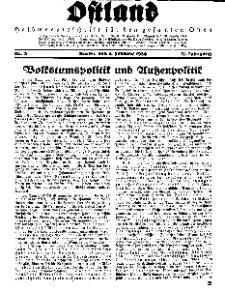 Ostland : Halbmonatsschrift für den gesamten Osten, Jg. 17, 1936, Nr 3.