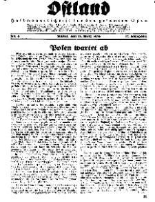 Ostland : Halbmonatsschrift für den gesamten Osten, Jg. 17, 1936, Nr 6.