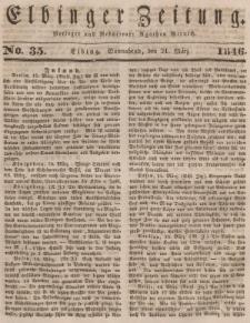 Elbinger Zeitung, No. 35 Sonnabend, 21. März 1846