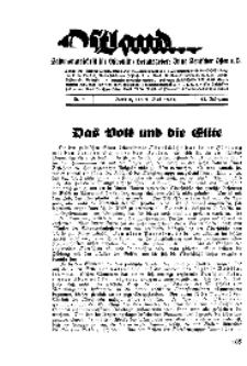Ostland : Halbmonatsschrift für Ostpolitik, Jg. 17, 1936, Nr 9.