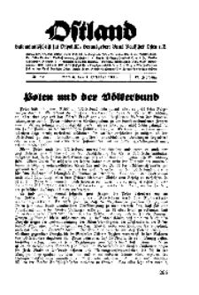 Ostland : Halbmonatsschrift für Ostpolitik, Jg. 17, 1936, Nr 19.