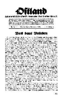Ostland : Halbmonatsschrift für Ostpolitik, Jg. 17, 1936, Nr 21.