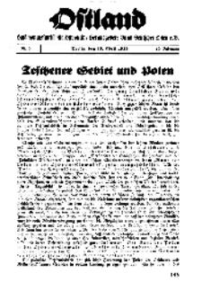 Ostland : Halbmonatsschrift für Ostpolitik, Jg. 19, 1938, Nr 8.