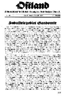 Ostland : Halbmonatsschrift für Ostpolitik, Jg. 19, 1938, Nr 15.