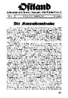 Ostland : Halbmonatsschrift für Ostpolitik, Jg. 19, 1938, Nr 21.