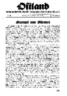 Ostland : Halbmonatsschrift für Ostpolitik, Jg. 19, 1938, Nr 23.