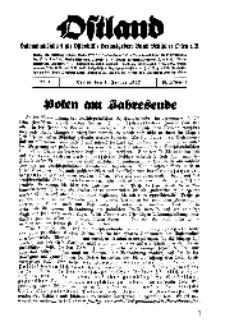 Ostland : Halbmonatsschrift für Ostpolitik, Jg. 18, 1937, Nr 1.