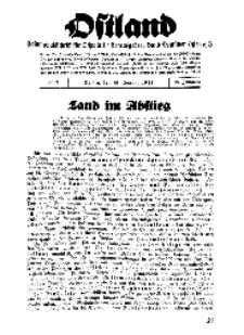 Ostland : Halbmonatsschrift für Ostpolitik, Jg. 18, 1937, Nr 2.