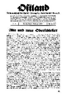 Ostland : Halbmonatsschrift für Ostpolitik, Jg. 18, 1937, Nr 3.