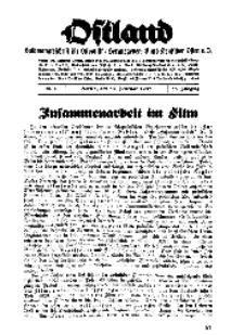 Ostland : Halbmonatsschrift für Ostpolitik, Jg. 18, 1937, Nr 4.