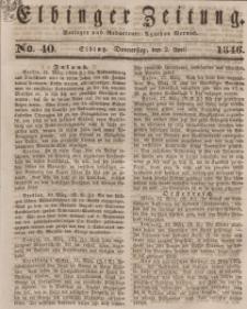 Elbinger Zeitung, No. 40 Donnerstag, 2. April 1846