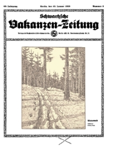 Schwartzsche Vokanzen-Zeitung, Jg. 69, 1939, Nr 3