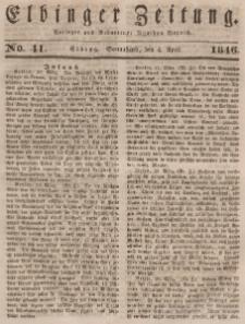 Elbinger Zeitung, No. 41 Sonnabend, 4. April 1846