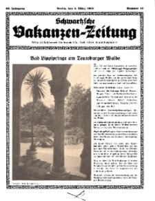 Schwartzsche Vokanzen-Zeitung, Jg. 69, 1939, Nr 10