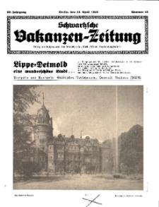 Schwartzsche Vokanzen-Zeitung, Jg. 69, 1939, Nr 15
