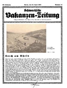 Schwartzsche Vokanzen-Zeitung, Jg. 69, 1939, Nr 16