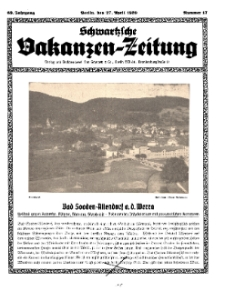 Schwartzsche Vokanzen-Zeitung, Jg. 69, 1939, Nr 17