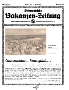Schwartzsche Vokanzen-Zeitung, Jg. 69, 1939, Nr 19